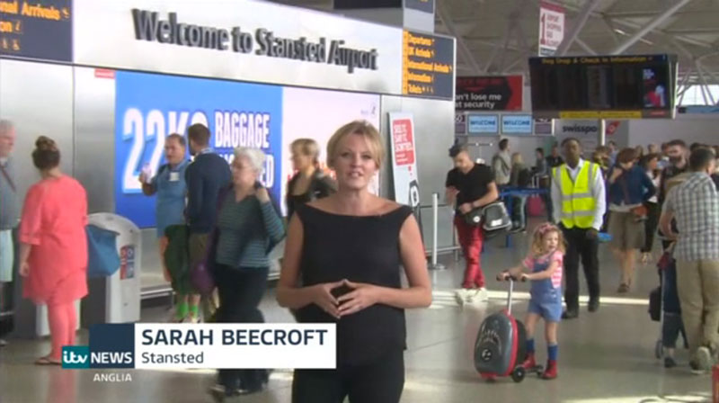 ITV News story about Stansted Airport College