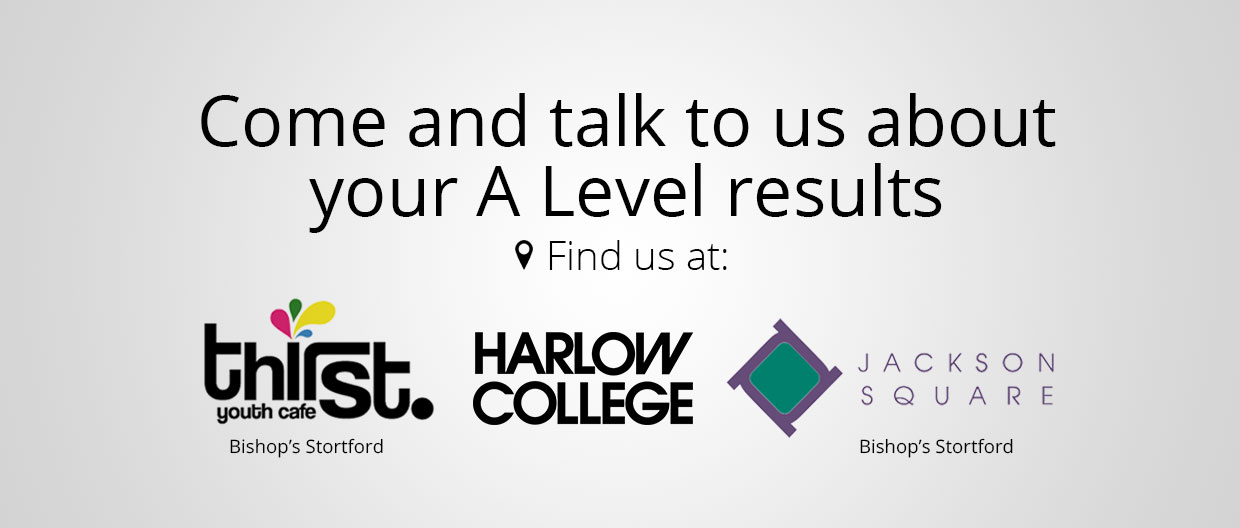 Talk to us about your A Level results