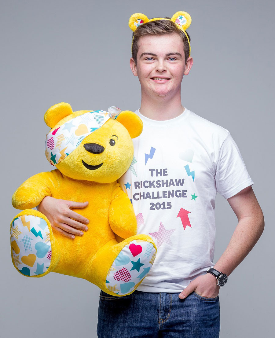 Elliot and Pudsey