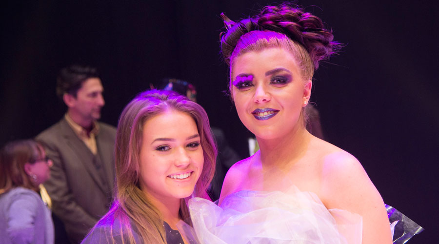 Winner Lillie West and her amazing model