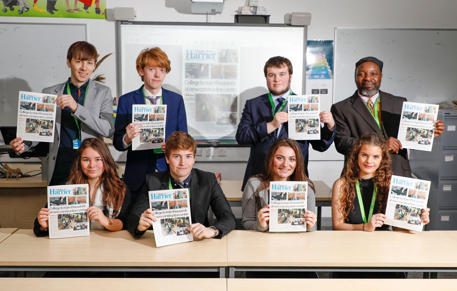 Harlow Harrier newspaper releases first printed edition