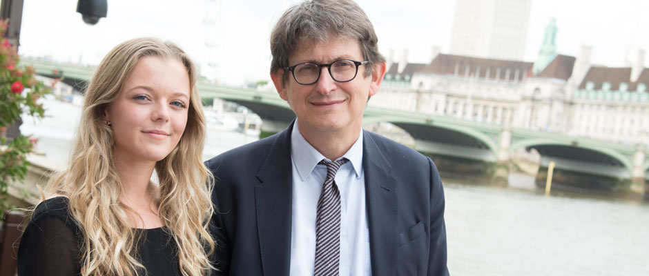Tayla Mead and Alan Rusbridger