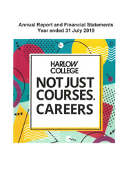 Harlow College Annual Report Financial Statements 2018 19